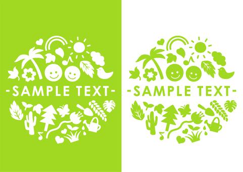 Logo event plant trees eco