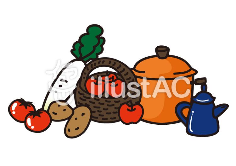 野菜とお鍋イラスト No 450614無料イラストならイラストac