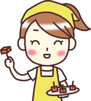 【Female Apron Yellow】 Front _ Tasting