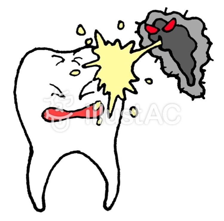 虫歯菌に攻撃される歯イラスト No 796923無料イラストなら