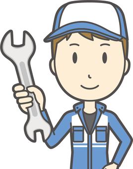 Male mechanic-058-bust