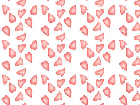 하트 벚꽃 패턴