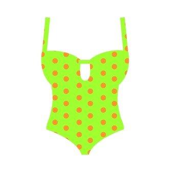 Dot pattern swimwear