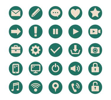 Circle icon set-green