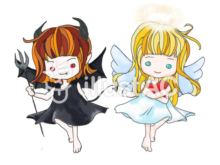 天使と悪魔イラスト No 997116無料イラストならイラストac