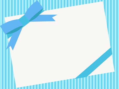 Thick blue ribbon frame 3