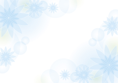 Light blue flower background