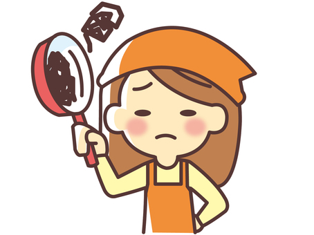 A woman scorching a frying pan (049)