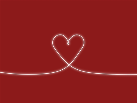 Background material * glowing heart (white red)