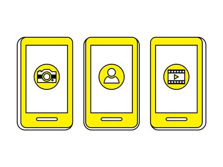 智能手機發布圖像黃色