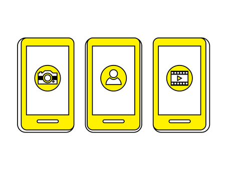 Smartphone post image yellow