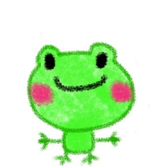 Illustration of crayonish frog
