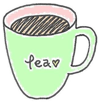 찻잔 컬러 teacup 緑桃