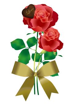 Heart Chocolate & Rose 17