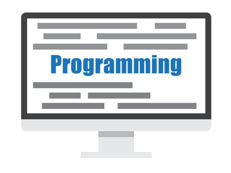 パソコンとプログラミングのイメージ