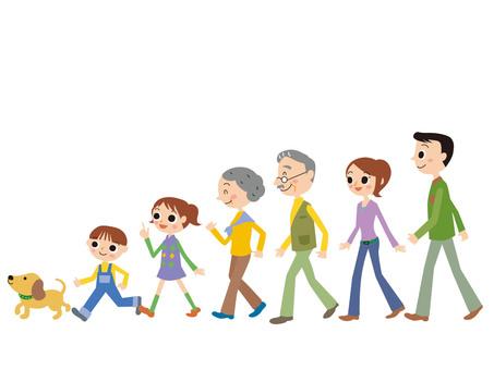 가족 산책