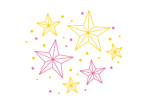Decorative material 021 stars