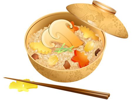 Autumn taste · Matsutake mushroom rice