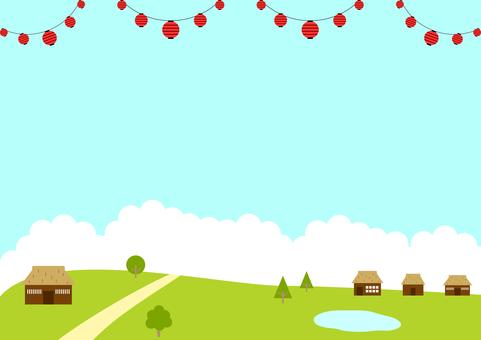 Lantern village landscape