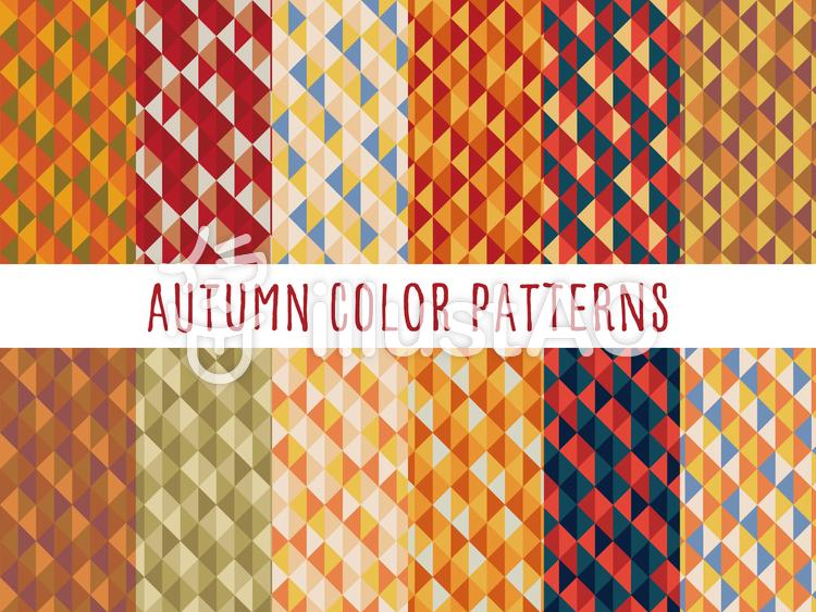 秋色背景パターンのイラスト