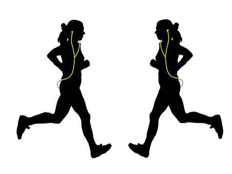 Headphone runner yellow