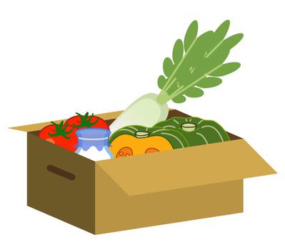 Food ingredients entered cardboard