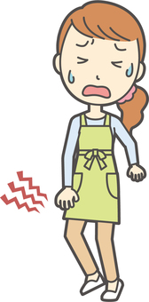 Apron youth long hair-337-whole body