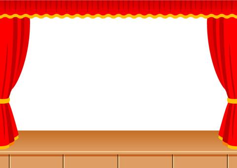 Red banner frame