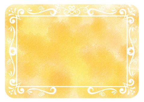 古色古香的框架水彩黃色圓形圓