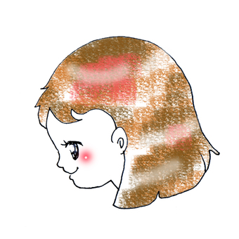 A girl with profile