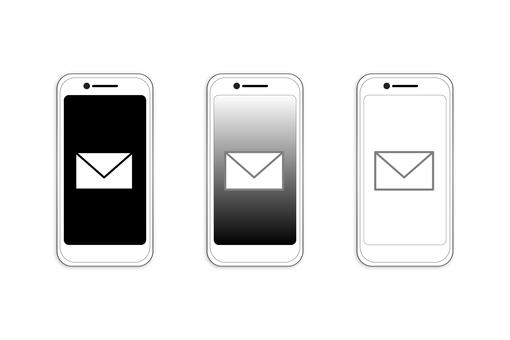 Mobile phone mail reception illustration set