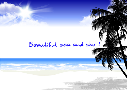 Beautiful sea and sky message card