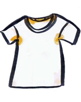 T-shirt's yellow tint