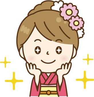 Expecting kimono women