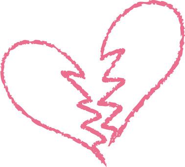 Heart (broken heart / pink)