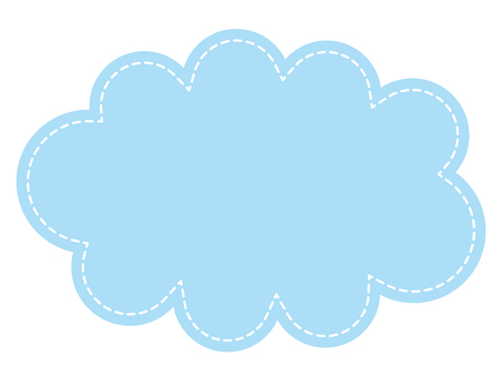 Casual cloud shape frame