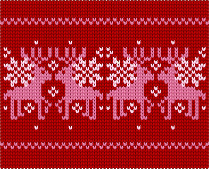 Reindeer's pattern of stitches