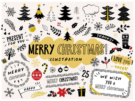 Christmas handwritten illustration