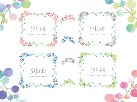 Flower frame set ver 04