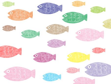 Fish pattern of fish wallpaper material