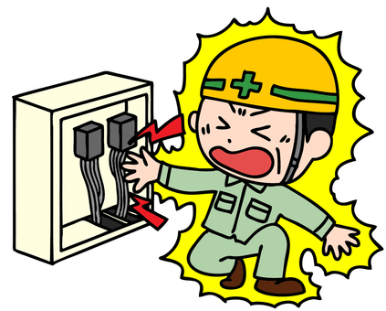 Illustration of electric shock accident