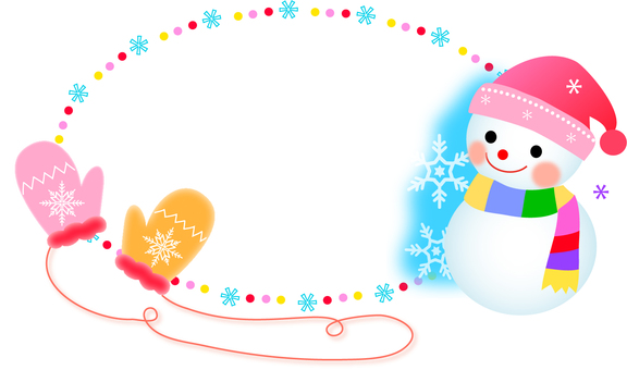Snowman and glove frame