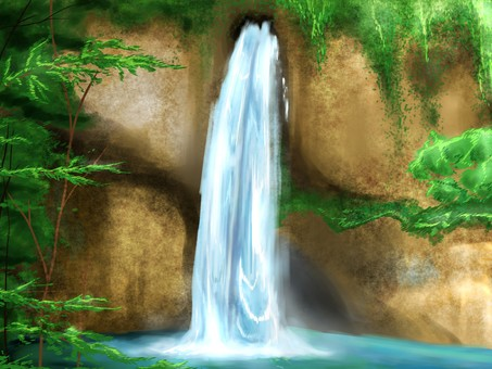 Waterfall background 1