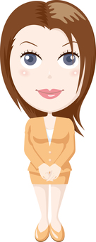 Business skirt woman
