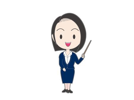 一個女人用一根棍子