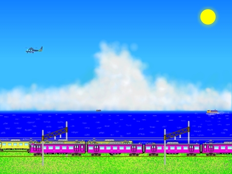 I tried using a train. (2352)