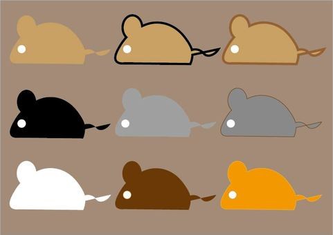 Silhouette mouse set