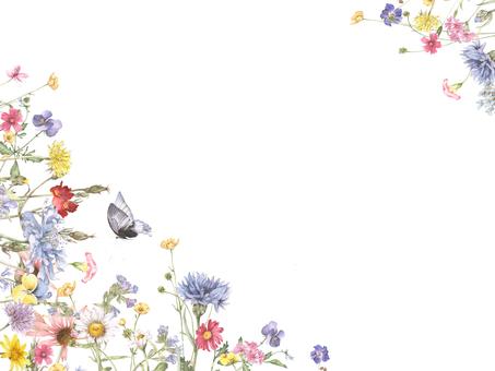 Floral frame 199 - hook type, charming flower frame