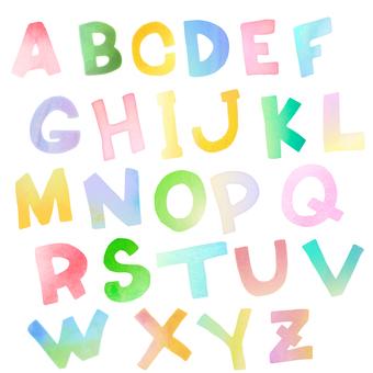 Stencil-style alphabet set