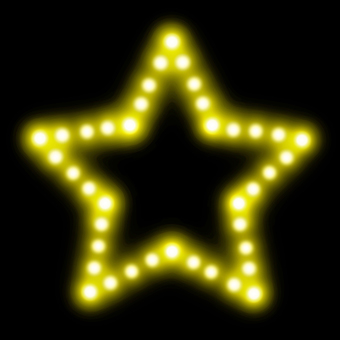 Star type neon sign